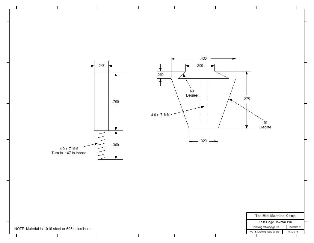Plans Noga Power Indicator Guard Test Dovetail Stem